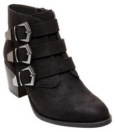 Betseyville by Betsey Johnson Women's Supagal Triple Buckle Booties