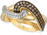 LeVian Le Vian Chocolatier® Diamond Knot Ring (1/2 ct. t.w.) in 14k Gold