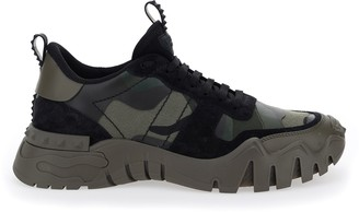 Valentino Camouflage Rockrunner Plus Sneakers