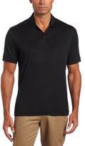 Perry Ellis Men's Short-Sleeve Cotton-Blend Open Polo Shirt