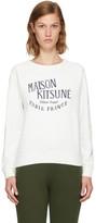 MAISON KITSUNÉ White palais Royal Sweatshirt