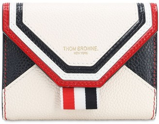 Thom Browne Envelop Grained Leather Compact Wallet