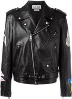 Loewe painted mushroom biker jacket