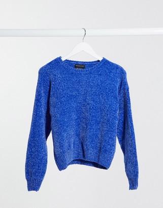 Wednesday's Girl oversized jumper in chenille knit