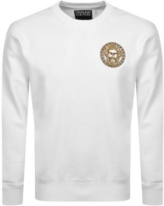 Versace Logo Sweatshirt White