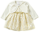 Sweet Heart Rose Sweetheart Rose Baby Girls 12-24 Months Lace Dress and Cardigan Set