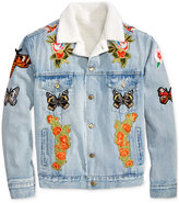 Hudson NYC Men's Patched Denim Jacket