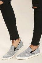 Qupid Step to It Black and White Slip-On Sneakers