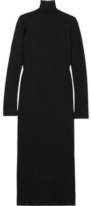 Haider Ackermann Wool And Cotton-blend Jersey Turtleneck Midi Dress