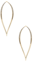 Mizuki 14K Yellow Gold & 0.26 Total Ct. Diamond Blackened Tear Drop Earrings
