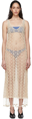Jil Sander Off-White Crochet Dress