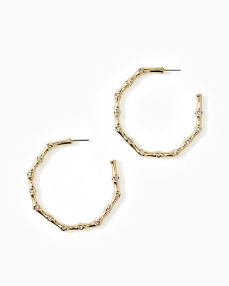 Lilly Pulitzer Tropical Bamboo Hoop Earrings