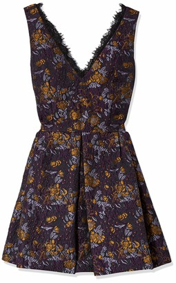 Cynthia Rowley Women's Fit and Flare Dress with Deep V Neckline