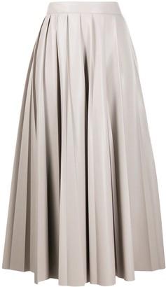 MSGM High-Waisted Pleated Skirt