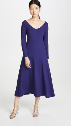 Rosetta Getty Open V Neck Dress
