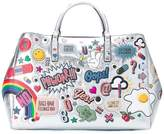 Anya Hindmarch metallic sticker tote