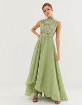 Asos Design DESIGN maxi dress with embellished mirror bodice