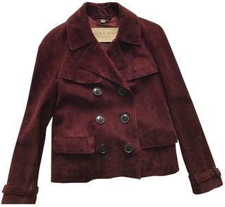 Burberry Burgundy Suede Jackets