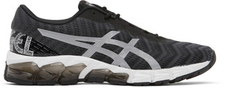Asics Black and Grey Gel-Quantum 180 5 Sneakers