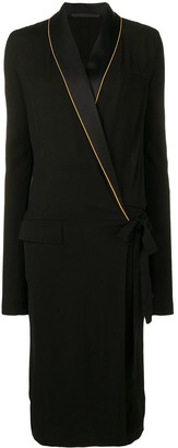 Haider Ackermann Piped Wrap Dress