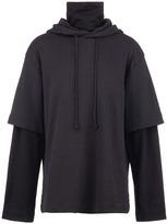 Juun.J Sleeve underlay oversized hoodie