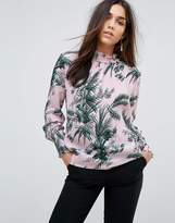 Whistles Wrem Print High Neck Blouse