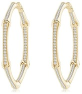 Natori Indochine Circular Diamond Hoops