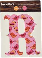 Wall Candy Arts WallCandy Arts Luv Letters Birds R, Pink/Yellow