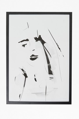 French Connection Large Framed Female Portrait Print 50X70