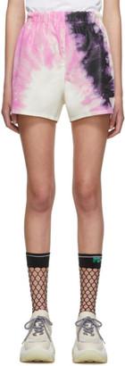 Prada SSENSE Exclusive White Silk Tie-Dye Shorts
