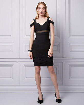 Le Château Knit Cold Shoulder Banded Dress