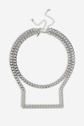 Topshop Womens **Casted Chain Necklace - Silver