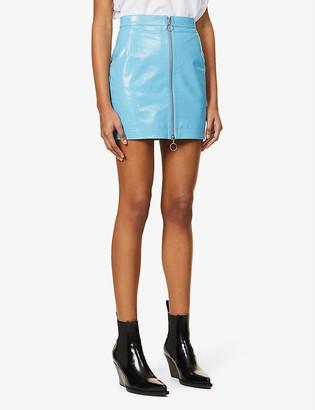 REMAIN Birger Christensen Lizzie high-waisted leather mini skirt