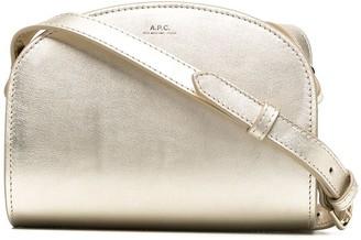 A.P.C. Demi-Lune metallic crossbody bag