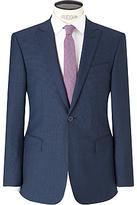 Richard James Mayfair Puppytooth Slim Suit Jacket, Blue