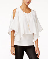 Amy Byer Juniors' Popover Necklace Top