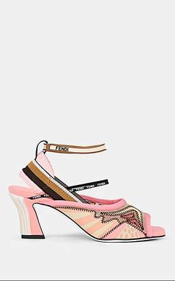 Fendi Women's Neoprene & Mesh Ankle-Wrap Sandals - Pink