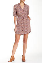 Angie Patterned Shirt Dress