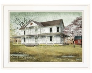 "Trendy Décor 4U April Showers by Billy Jacobs, Ready to hang Framed Print, White Frame, 19"" x 15"""