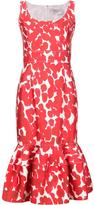 Carolina Herrera floral trumpet dress - women - Cotton/Spandex/Elastane - 4