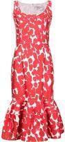 Carolina Herrera floral trumpet dress - women - Cotton/Spandex/Elastane - 6