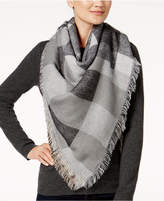 Steve Madden Plaid Blanket Wrap & Scarf in One