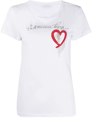 Patrizia Pepe applique heart T-shirt