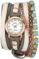 La Mer Women's LMMULTI5002 St. Tropez Rose Gold-Tone Wrap Bracelet Watch