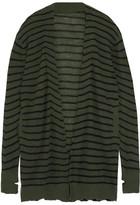 RtA Striped Cashmere Cardigan