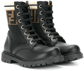 Fendi FF logo boots
