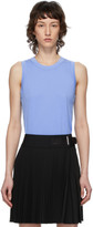 Helmut Lang Blue Ribbed Femme Shell Tank Top