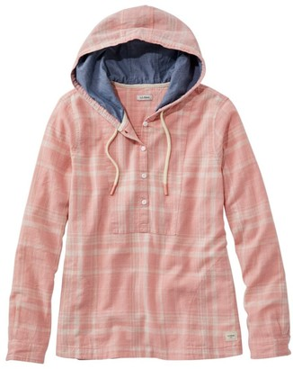 L.L. Bean Women's Textured Linen/Cotton Anorak, Plaid