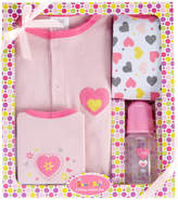 Sweet & Soft Pink Heart Bodysuit Set - Infant
