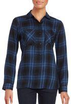 Long Sleeve Plaid Button-Down Shirt